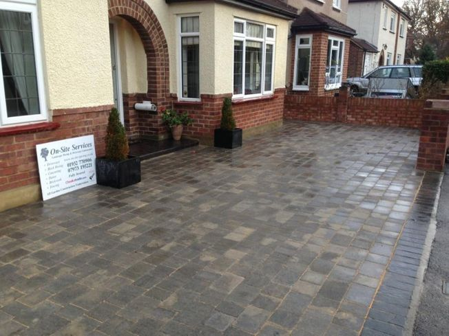 A customer front patio