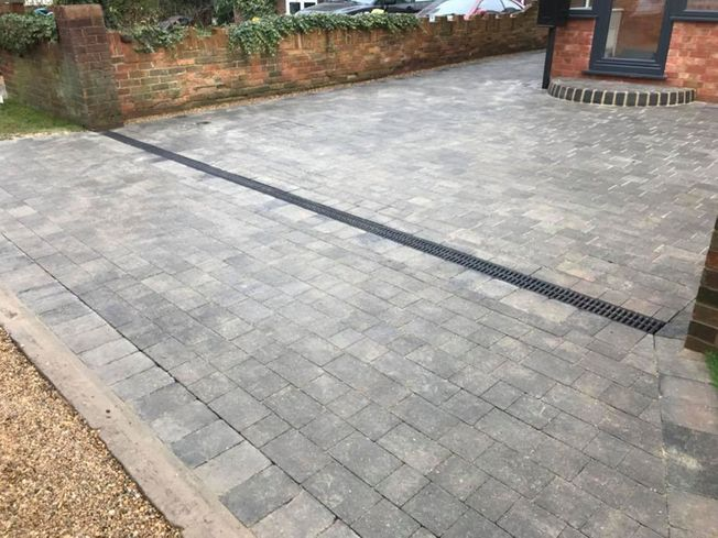 Paving and front driveway